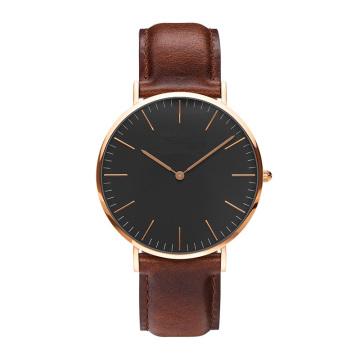 Relógios Mulher Relógio de Moda 2016 Rose Gold Casual Relógio Quartz Relógios de couro Relogio Feminino Mas