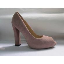 Sandálias das senhoras da forma peep toe (HCY03-015)