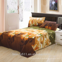 Ensembles 3d de quatre ensembles de draps de lit coussin élastique motif de fleurs gros parfum lys textiles maison lit 3d quatre pièces BS13