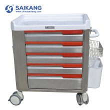 SKR-ET052 Stainless Steel Cheap Hospital Therapy Medical Moving Trolley