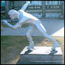 Figura escultura de acero inoxidable