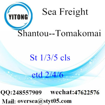 Shantou Port LCL Consolidation To Tomakomai
