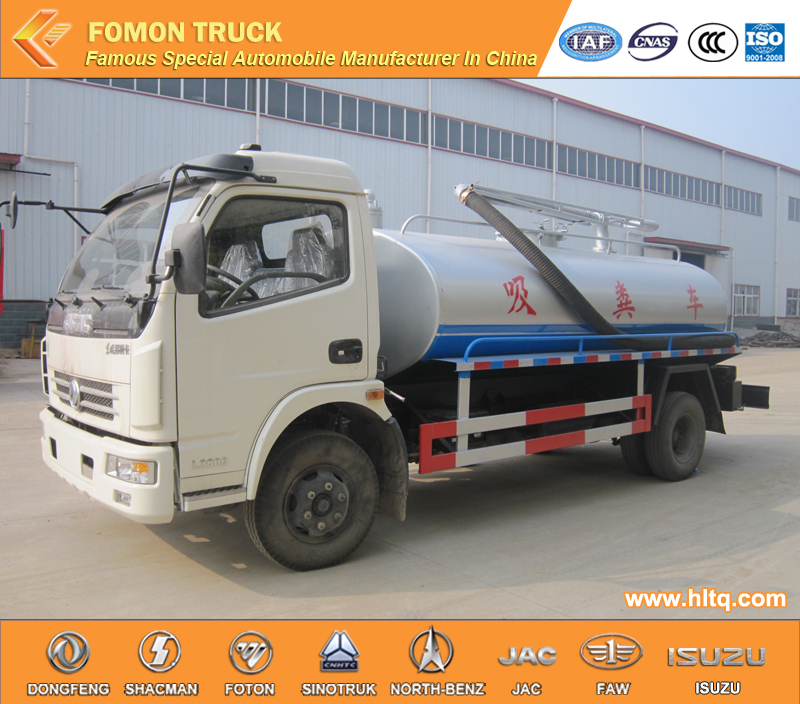 4 vacuum fecal suction truck