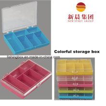 6 Compartment Colorful Plastic Box