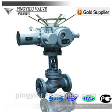 motorized globe valve manual cast steel flange end rising stem globe valve safety stem for pipeline control valve drawing