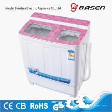 Pink Glass Cover 6KG Twin Tub Washing Machine