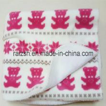 Oeko-Tex 100 Aprovado Cobertor de Lã Impresso para Todas as Estações