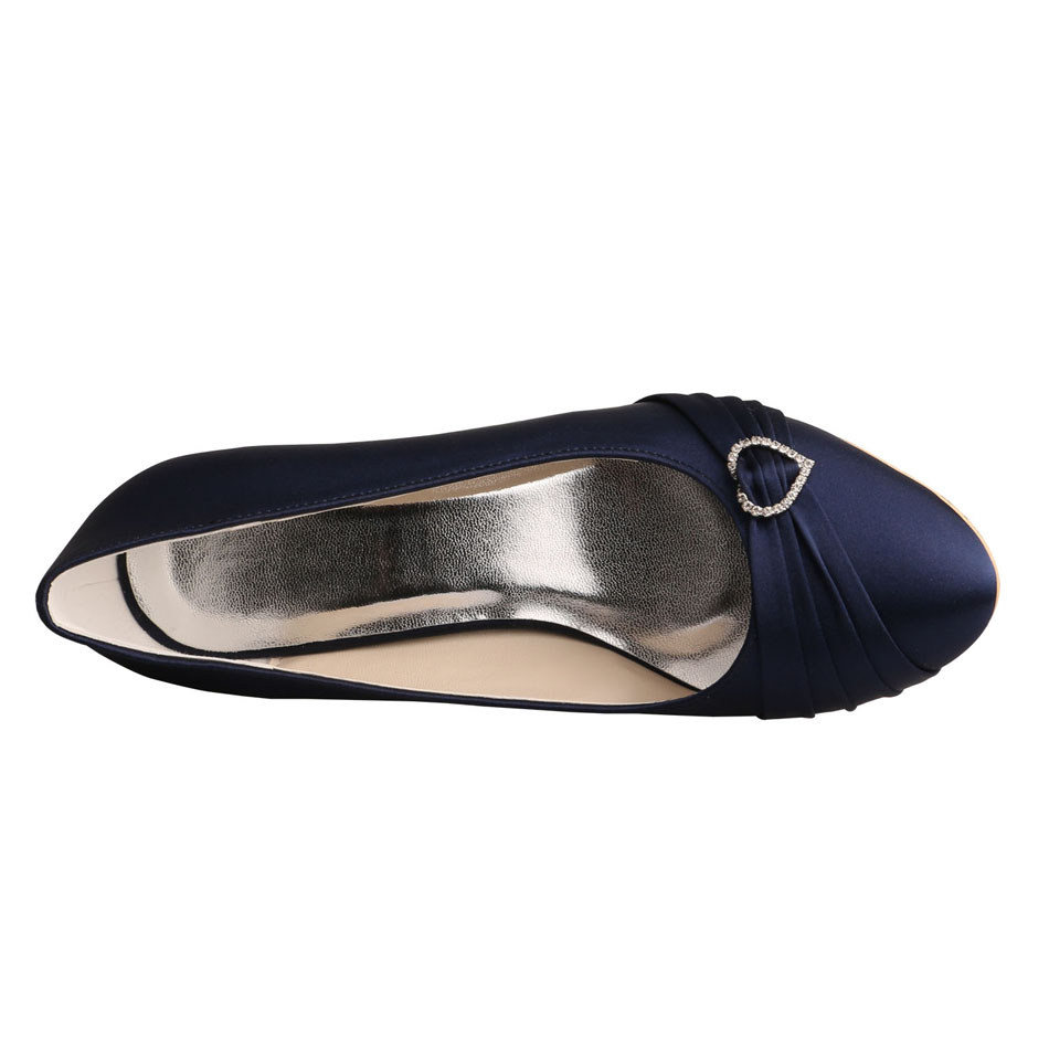 Navy Satin Shoes