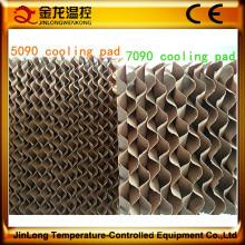 Almofada refrigerando evaporativa eficiente alta de Jinlong para a casa da galinha