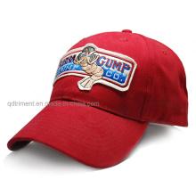 100% хлопок войлочная аппликация пользовательских Бейсбол Отдых Cap (TMB6231)