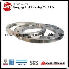 Brida de acero al carbono por fundición de precisión con servicio OEM