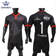 Jersey de rugby por sublimação de impressão digital com design personalizado