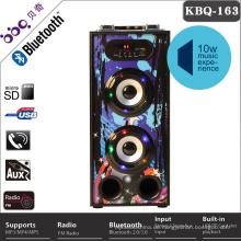 Beweglicher drahtloser Stereo-wieder aufladbarer bester Verkäufer bluetooth Lautsprecher der großen Verkäufe mit buntem Festzelt LED