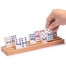 Indoor wooden domino box game educational adult games