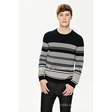 2016new suéter de algodón de rayas jersey para hombres