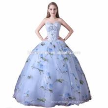 2017 entrega rápida vestido de fiesta del desgaste del banquete de boda de las mujeres se visten hombro impresa puffy modelos de vestido de dama de honor al por mayor