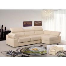 Echtes Leder Chaise Leder Sofa Elektrisch Verstellbares Sofa (858)