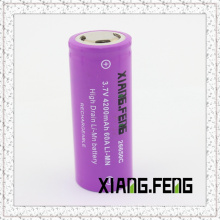 3.7V Xiangfeng 26650 4200mAh 60A Batterie au lithium rechargeable Imr Batterie rechargeable
