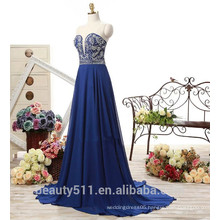 Latest Fashion Design 2017A-line Strapless Sleeveless Floor-length Sexy Chiffon Long Women Prom Evening Dresses ED581