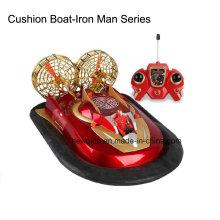 Multifuncional R / C de radio control de agua de tierra Hovercraft barco con doble motor