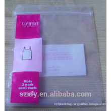 ziplock PE bag with printing logo for packing clothes