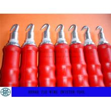Herramienta Twister de alambre para alambre de lazo de doble lazo