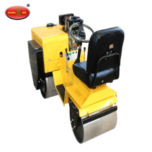Steering Ride-on Double Silinder Road Roller Machine