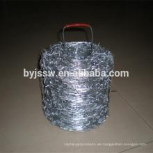 Proveedor de alambre de púas galvanizado calibre 14