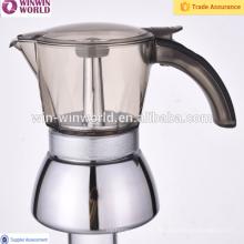 4 copos de aço inoxidável cafeteira com alça de moda
