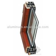 Échantillon profilé en bois en aluminium