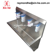 Medizinische Edelstahl-Waschtrog für den Krankenhauseinsatz, Edelstahl-chirurgische Scrub Sink mit Sensor Taps & Soap Dispenser