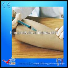Brazo de maniquí de entrenamiento de inyección intradérmica médica de plástico de tamaño natural avanzado