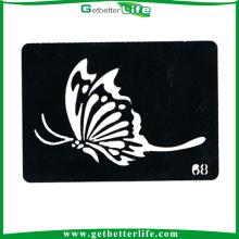 Getbetterlife 2014 novo vário borboleta elegantes Stencils para tatuagem de Glitter