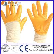 Вязаные перчатки с гладкой отделкой из нитрилового хлопка с перчатками