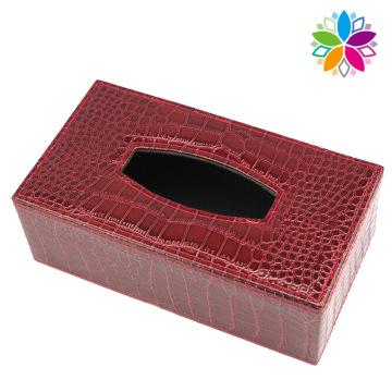 Caixa de tecido retangular de couro de moda (ZJH076)