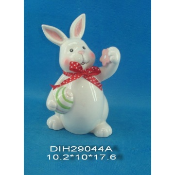 Easter Decoration Hand-Painted Ceramic Rabbit