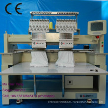 2 head new and used embroidery machine with 12 needles and high quality