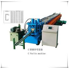 Máquina formadora de rollos de perfiles de acero de la construcción