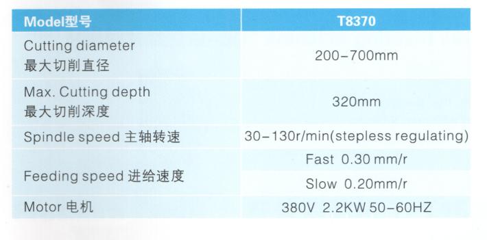 T8370 spec