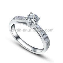 Corações e anéis originais do projeto CZ anéis da prata esterlina do diamante