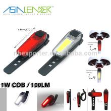 Азия-лидер легко устанавливается без инструментов Перезаряжаемый фонарь для велосипеда COB