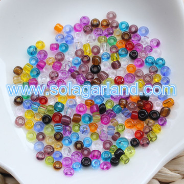 2/3/4 MM Clear Böhmisches Glas Rocailles Runde Spacer Perlen Charms