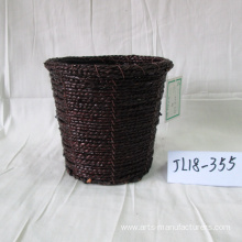 New Arrival China for Seagrass Basket,Seagrass Storage Baskets,Storage Baskets With Lids Manufacturers and Suppliers in China Round Coffee Sea Grass Flower Pot export to Italy Factory