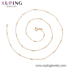 44765 xuping jóias simples moda 18k banhado a ouro colar de corrente