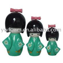 decoración de la boda muñeca japonesa