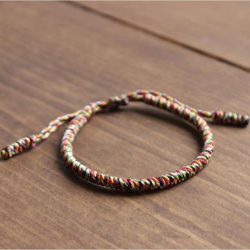 Handmade Knot Multi-color Rope Bracelet