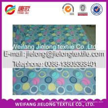 abrigo impreso tela de algodón de piel de melocotón de microfibra