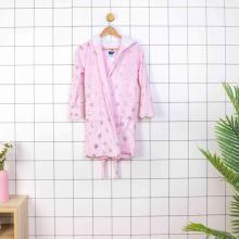 Roupão de banho 100% poliéster com capuz para crianças