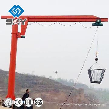 Grue de levage portative, grue à flèche pivotante montée sur colonne modèle ZB-A