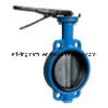 Wafer Type Cast Ductile Iron Lever Operated Butterfly Valves